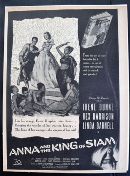 Anna and the King of Siam (1946) - Irene Dunne | Vintage Trade Ad